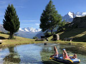 Das leichte Leben geniessen wir auf der Alpe Jungen bei St.Niklaus im Wallis.