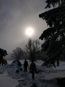 Wintercamping auf dem Hagen. Für was braucht man Sommer? Wir drei Mädchen genossen ein frostiges Wochenende und hatten viel Spass.