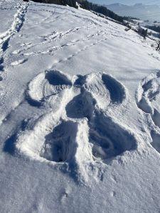 Schneeengel.