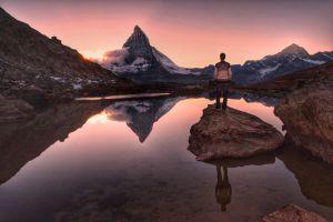 Freiheit pur am Riffelsee in Zermatt